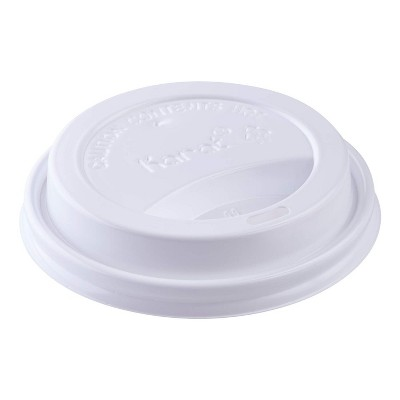 Karat C-KDL516B Hot Drink Sipper Polypropylene Plastic Dome Lid for 10 to 24 Ounce Paper Hot Cups for Coffee and Tea, White, Case of 1000
