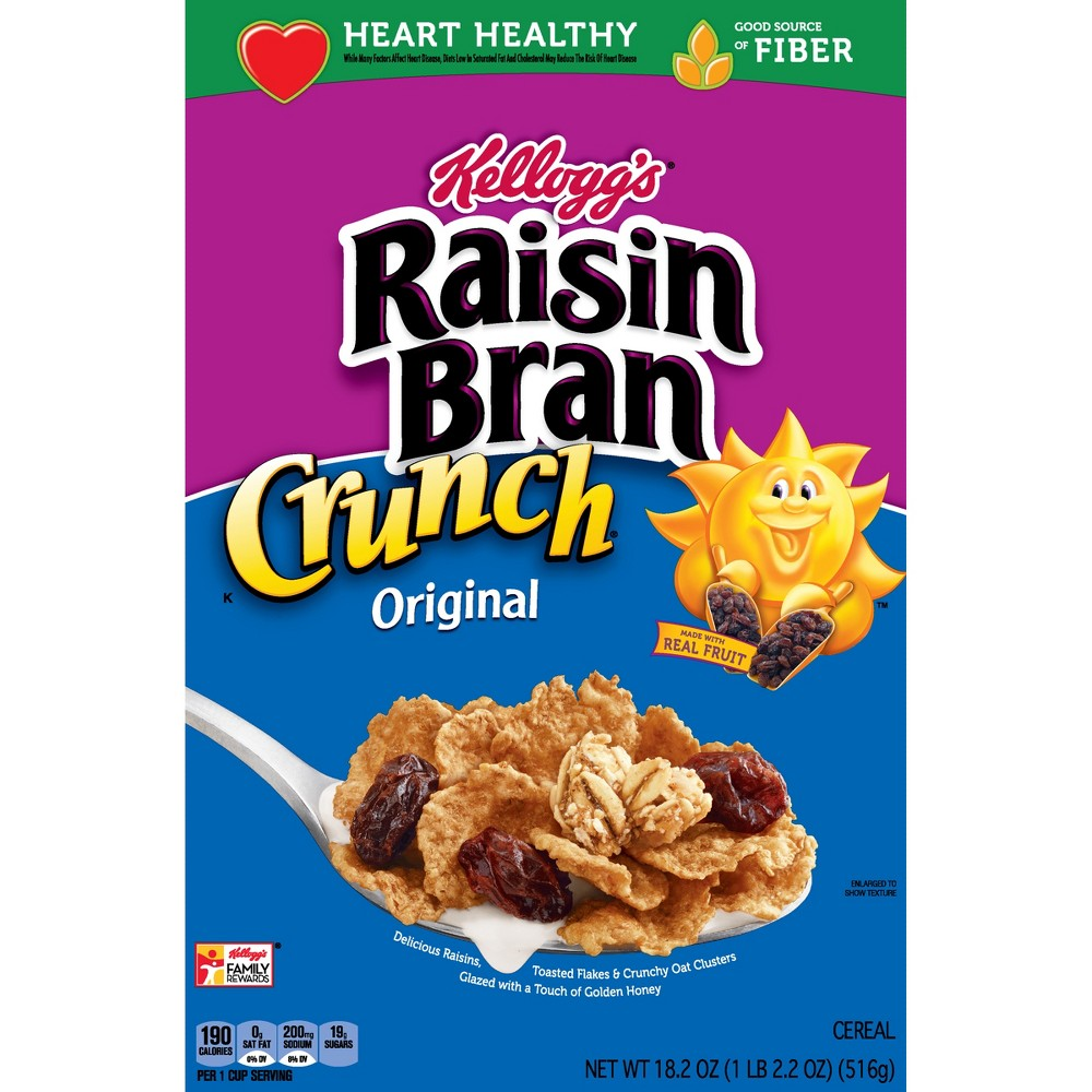 Raisin Bran Crunch Original Breakfast Cereal - 18.2oz - Kellogg's