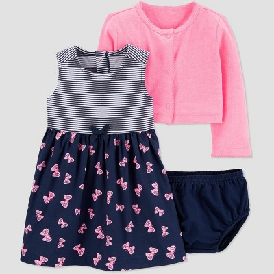 Baby Girls' 2pc Butterfly Top & Bottom Set - Just One You® made by carter's Navy/Pink 9M