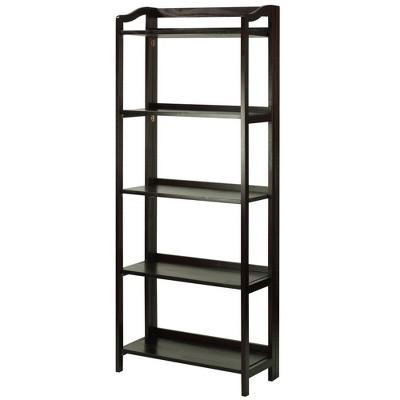 """Stratford 60.25"""" 5 Shelf Folding Bookcase"""