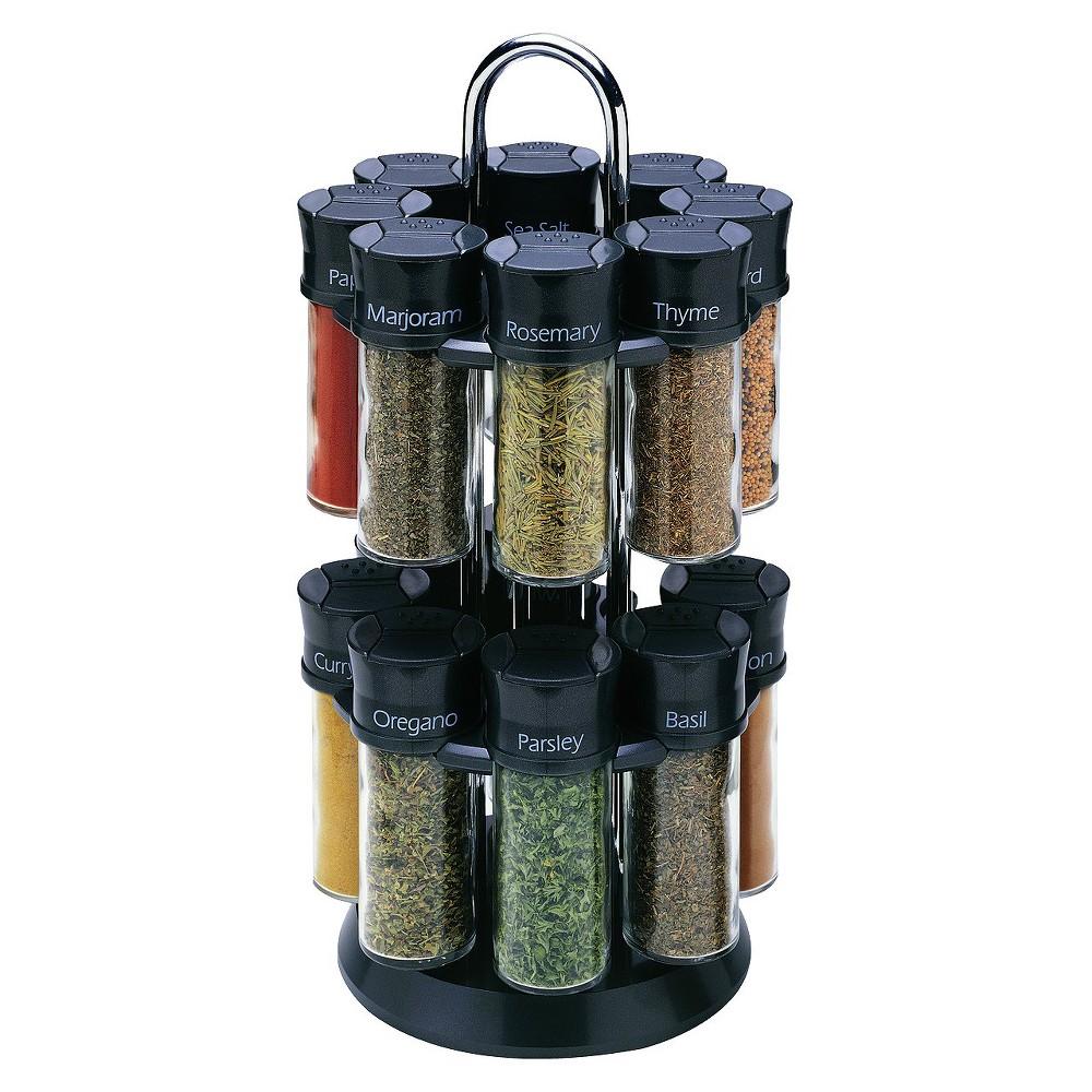 Image of Olde Thompson 16 Jar Spice Rack - Black