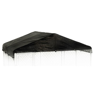 WeatherGuard CL-00303 10' x 10' Black Extra Large All Season Outdoor Waterproof Dog Run Kennel Cover, No Kennel Included