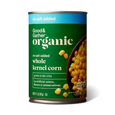 Organic No Salt Added Whole Kernel Corn - 15oz - Good & Gather™