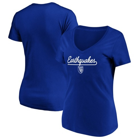 online store 0834c dfb12 MLS Women's Short Sleeve V-Neck T-Shirt San Jose Earthquakes - XL