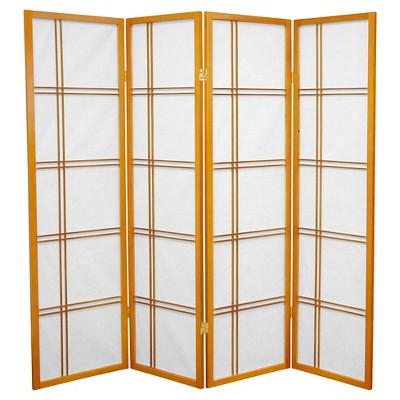 5 ft. Tall Double Cross Shoji Screen (4 Panels) - Oriental Furniture