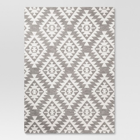 5 X7 Area Rug Sahara Gray Threshold