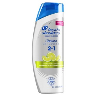 Head And Shoulders Instant Oil Control Paraben Free Anti-Dandruff 2in1 Shampoo & Conditioner - 12.8 Fl Oz : Target