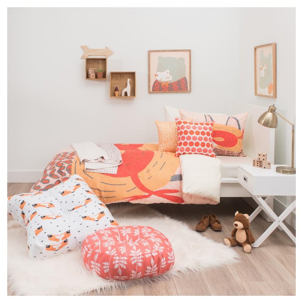Peach Mummysam Mr Fox Duvet Cover Twin XL - Deny Designs