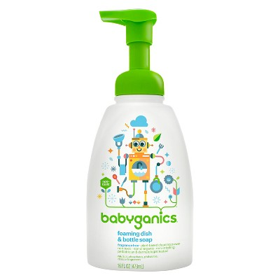Babyganics Foaming Dish & Bottle Soap, Fragrance Free- 16oz