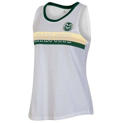 NCAA Colorado State Rams Women's White Tank Top