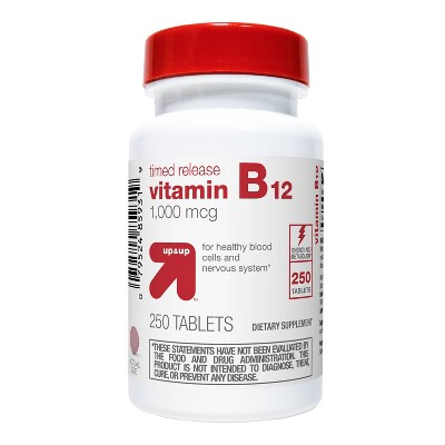 Vitamin B12 Dietary Supplement Timed Release Tablets - 250ct - up & up™