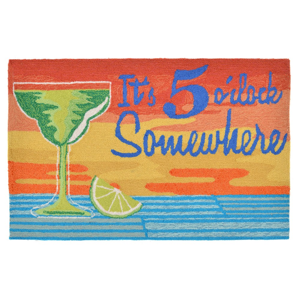 Frontporch Indoor/Outdoor It's 5 O'Clock Sunset Rug 20