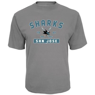 NHL San Jose Sharks Men's Center Ice Gray T-Shirt S