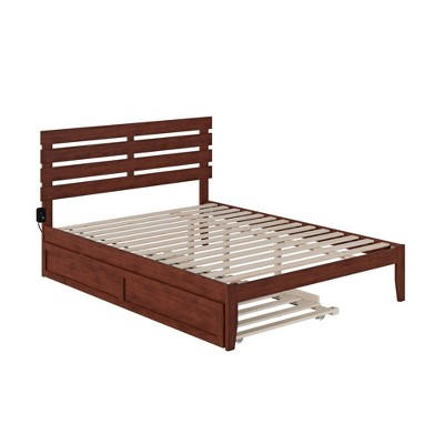 Oxford Bed with USB Turbo Charger and Extra Long Trundle - Atlantic Furniture