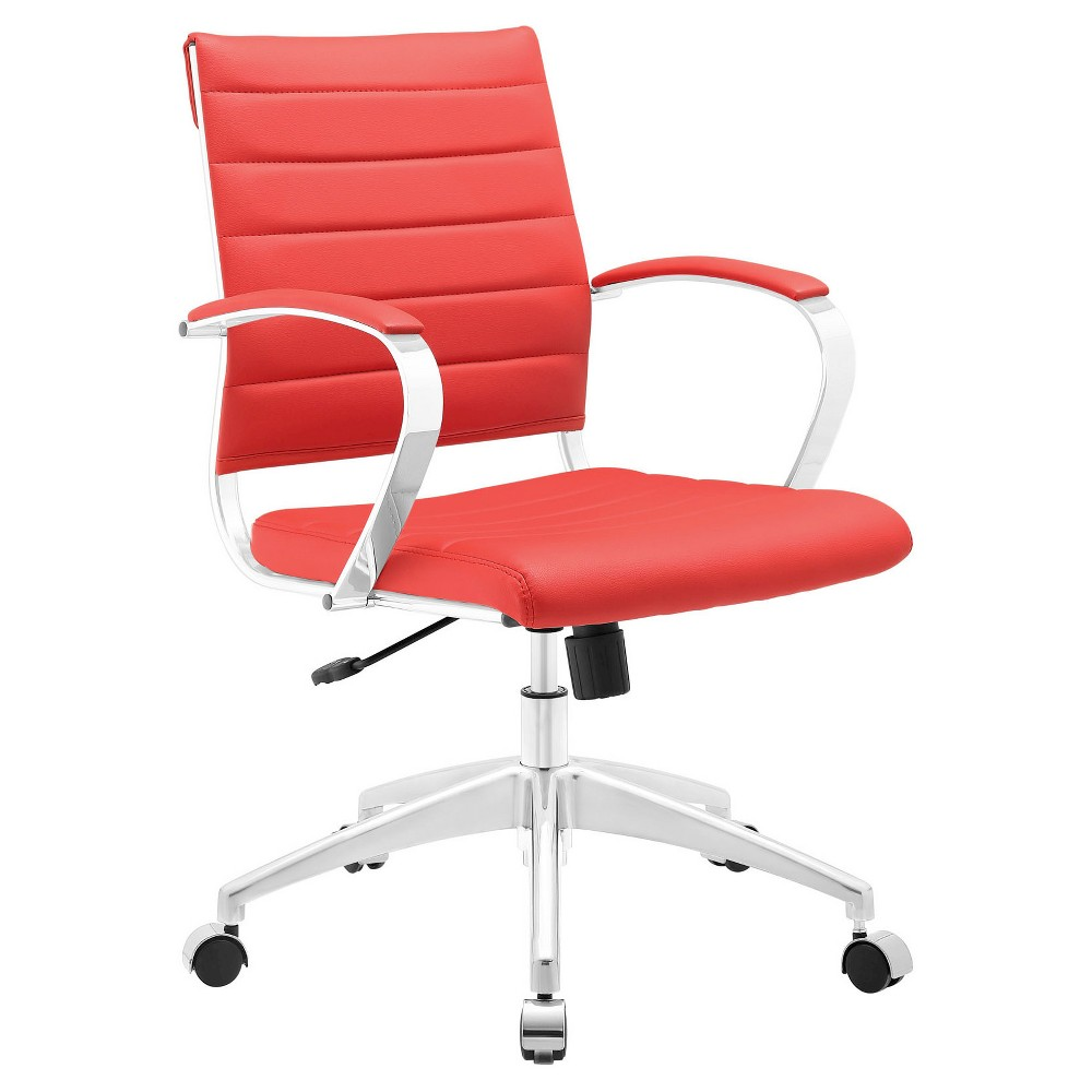 Image of Office Chair Modway Absolutely Red
