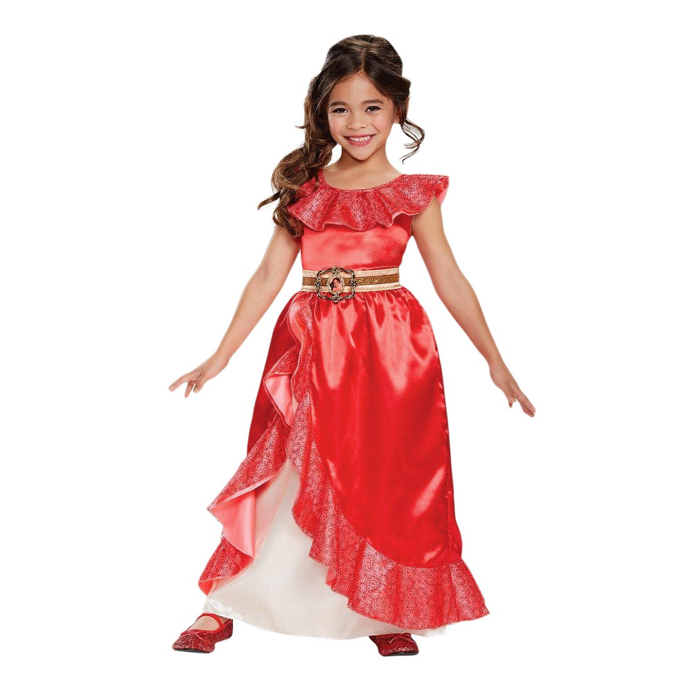 Image of Halloween Girls' Elena of Avalor Deluxe Adventure Gown Costume M(7-8), Girl's, Size: Small, MultiColored