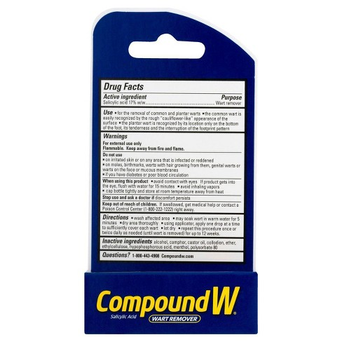 Compound W Maximum Strength Fast-Acting Liquid Wart Remover - 0 31oz