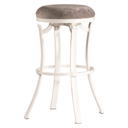 Phenomenal Kelford Backless 30 Swivel Bar Stool White Paver Hillsdale Furniture Andrewgaddart Wooden Chair Designs For Living Room Andrewgaddartcom