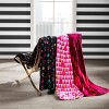 Skull Party Throw Blanket Pink - Betseyville - image 3 of 4