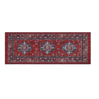 Vintage Persian Medallion Kitchen Rug Red - Threshold™