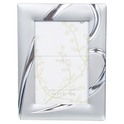 Matte Silver Heart Placecard Holder, 12 Pc - Pinnacle