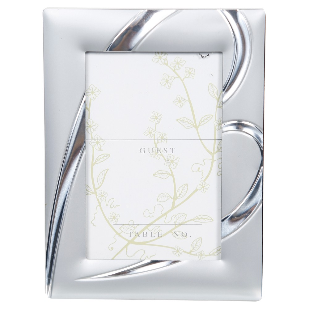Matte Silver Heart Placecard Holder, 12 Pc - Pinnacle