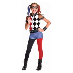 Girls' DC Super Hero Girls Harley Quinn Halloween Costume