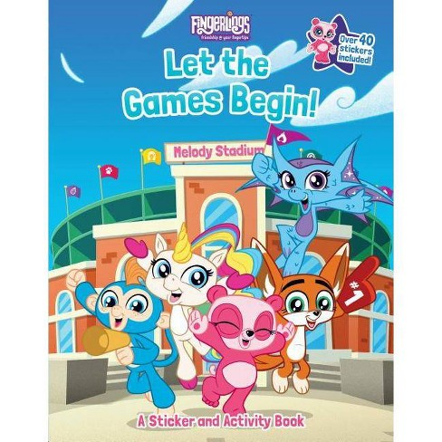 Fingerlings: Let the Games Begin! a Sticker and Activity Book - by  Brooke Vitale (Paperback) - image 1 of 1