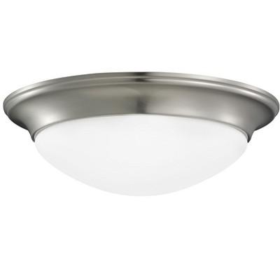 Generation Lighting Nash 1 light Brushed Nickel Ceiling Fixture 7543593S-962