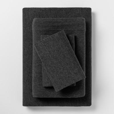 Jesey Sheet Sets (Queen)Heather Black - Room Essentials™