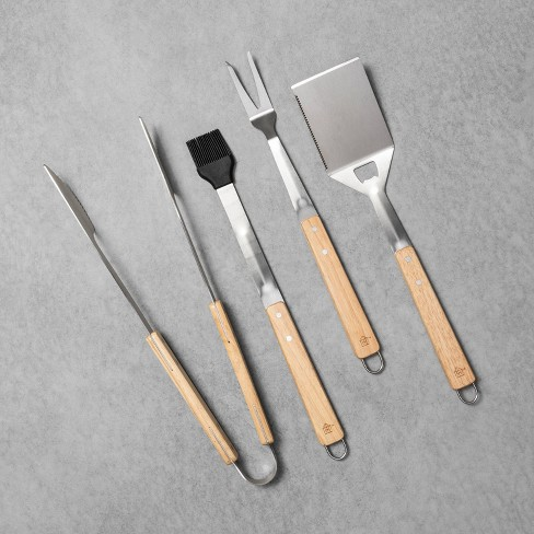 4pk Grill Tools with Wood Handle - Hearth & Hand™ with Magnolia - image 1 of 3