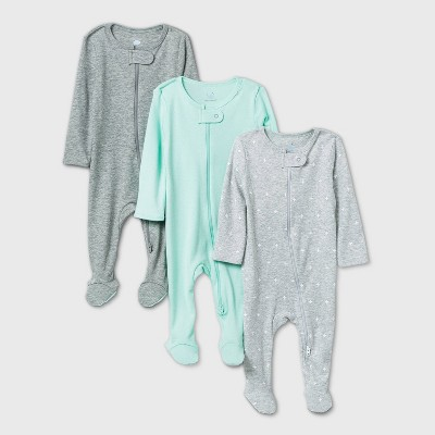 Baby 3pk Sleep N' Play - Cloud Island™ Gray Newborn