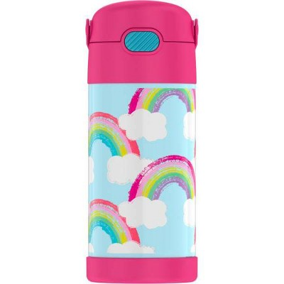 Thermos Rainbow 12oz FUNtainer Water Bottle with Bail Handle - Pink/Blue