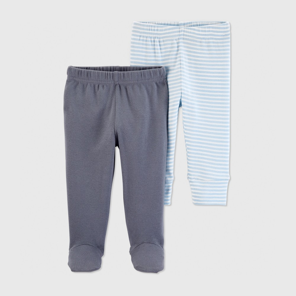 Baby Boys' 2pk Pants - Just One You made by carter's Blue/Gray 9M