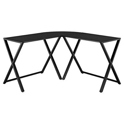 Glass L Shaped Computer Desk - Saracina Home