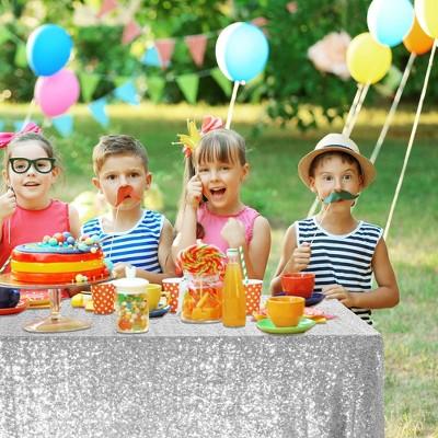 PiccoCasa Sparkle Plastic for Banquet Party Decor 3mm Round Sequins Tablecloths 1 Pc