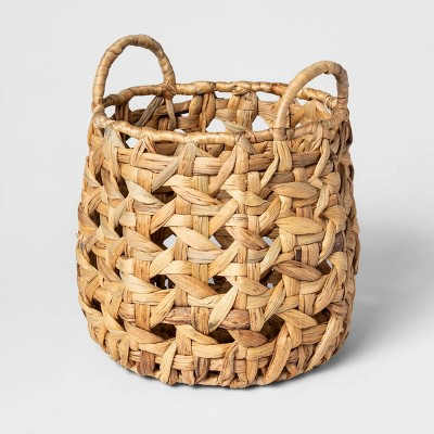Decorative Cane Pattern 8 Sided Open Weave Basket Natural - Threshold™