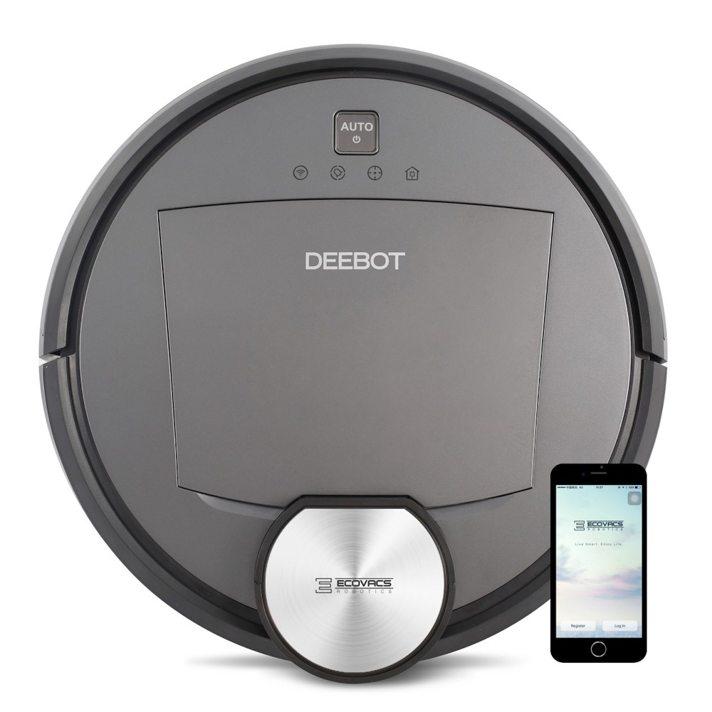 Ecovacs Deebot R95 Multi-Surface Robotic Vacuum Cleaner with Wet Mop, Amazon Alexa, and Voice Notification, Black