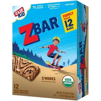 CLIF Kid ZBAR Organic S'Mores Snack Bars - 12ct