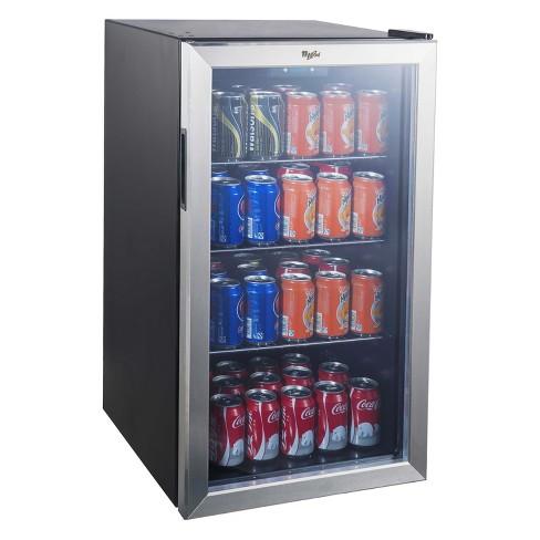 Whirlpool 3 6 cu ft Mini Refrigerator Beverage Center - Stainless Steel  JC-103EZY