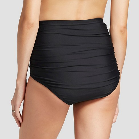 3a909aa2cac427 Maternity High Waisted Side Ruched Swim Brief - Sea Angel : Target