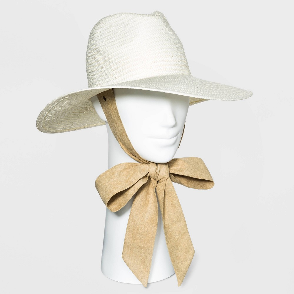 Tea Party Hats – Victorian to 1950s Womens Straw Panama Hat with Ties - Universal Thread Ivory $24.00 AT vintagedancer.com