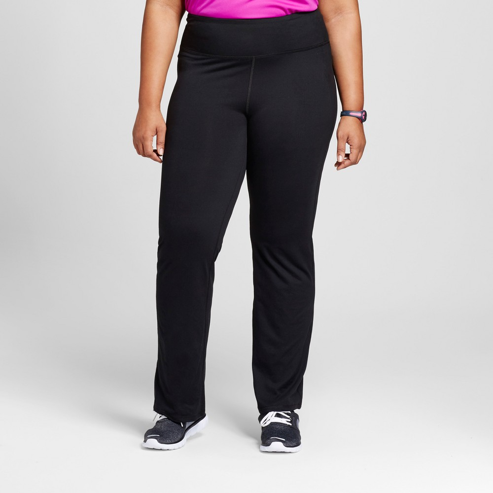 Women's Plus Size Everyday Mid-Rise Curvy Fit Pants 31.5 - C9 Champion Black 1X
