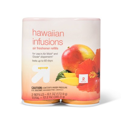 Auto Air Freshener Refill Hawaiian Infusions Scent - 2ct/6.1oz - up & up™