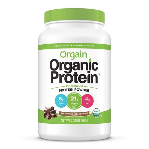 Orgain Organic Vegan Protein Plant-Based Protein Powder - Creamy Chocolate Fudge - 2.01lbs - image 1 of 3