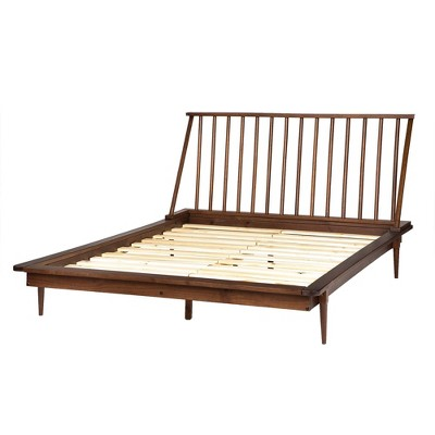 Queen Aurora Boho Solid Wood Spindle Bed - Saracina Home