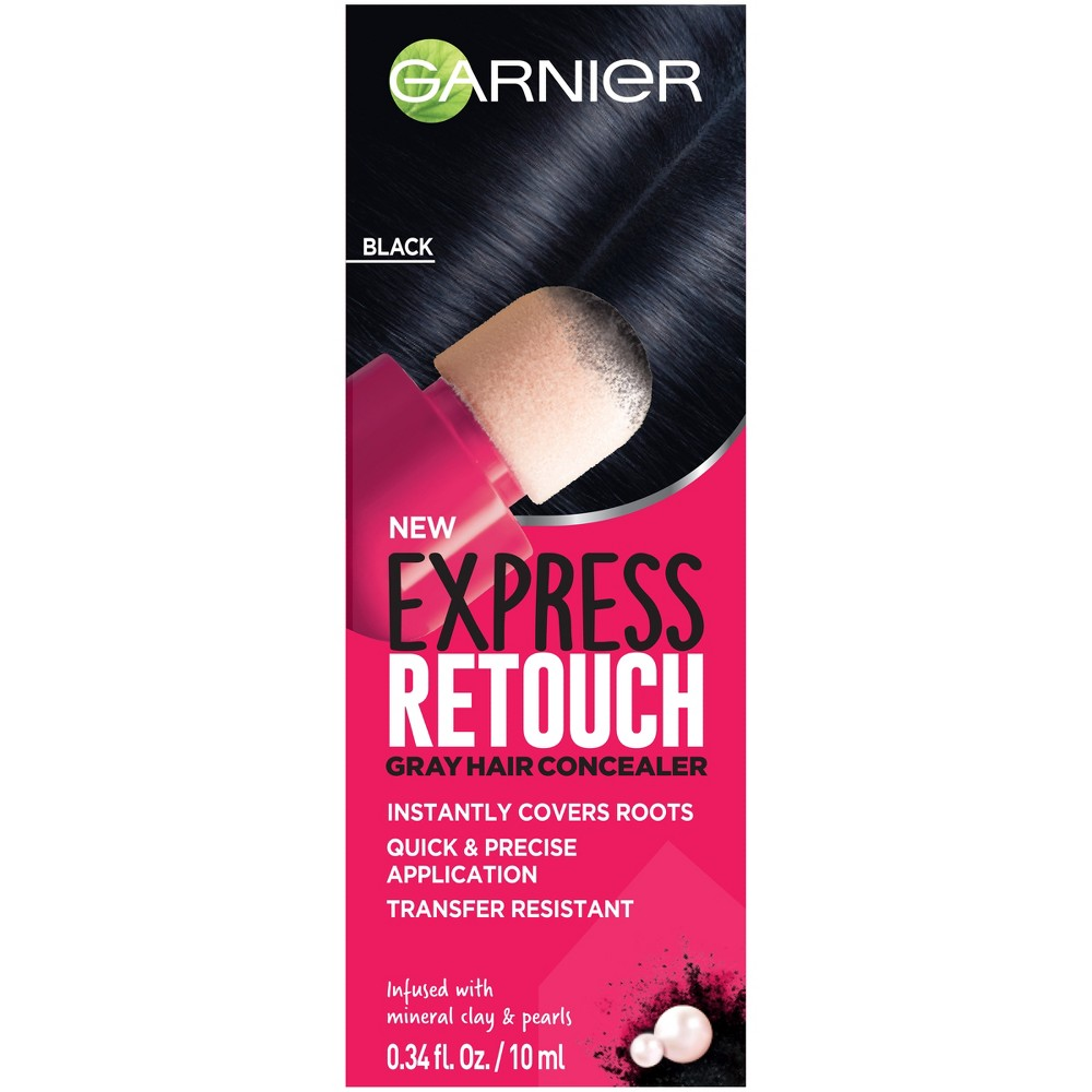 Image of Garnier Express Retouch Black Gray Hair Concealer - 0.34 fl oz