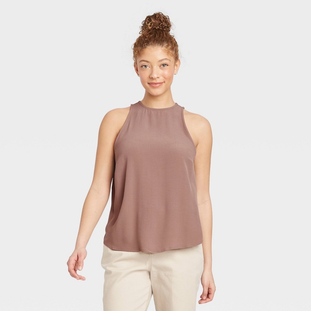 Women 39 S Racer Back Tank Top A New Day 8482 Brown Xxl