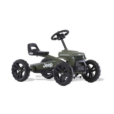 BERG Toys Jeep Buzzy Sahara Pedal Powered Kids Adjustable Go Kart, Green