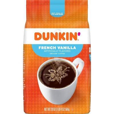 Dunkin' French Vanilla Flavored Ground Coffee - 20oz